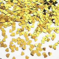 CSC Imports GOLD MINI HEARTS Small Heart Table Confetti 14 Gram Party Sprinkles