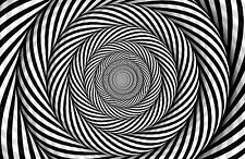 Framed Print - Black & White Spiral Swirl (Picture Poster Optical Illusion Art)