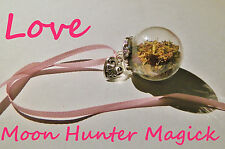 Love Charm Witch Ball  20+ Yrs Exp. Heart Chakra Pagan Wiccan Reiki Attraction