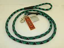 """AUBURN LEATHERCRAFTERS NO-TANGLE REFLECTIVE LEAD SNAP GREEN & BLACK 72"""""""