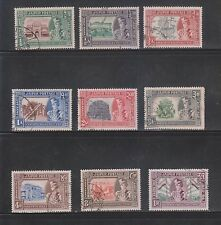 India Jaipur 1947-48, Silver Jubilee 1/4An to 1Re SG72-80 (9V) USED COMPLETE SET