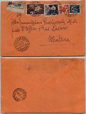 REPUBBLICA-50 lire DEMOCRATICA+20 lire CIMAROSA-Raccomandata GRASSANO 16.7.1950