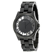 Marc by Marc Jacobs Henry Skeleton Dial Black Plastic Ladies Watch MBM4572