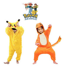 Kids Animal Pajamas Cosplay Costume Pokemon Pikachu Onesie Kigurumi Charmander