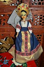 VINTAGE RUSSIAN HAND MADE DOLL IN TRADITIONAL CLOTHES,1970s