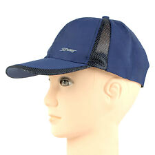 Bonjour  Mesh Design Polyester  Baseball Blue Cap  for Men_RMS5Z1004B