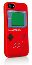 Nintendo GameBoy Console Silicone Rubber Protective Case Cover iPhone 5 5s Red