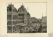1881= OLD NEW YORK = GRAND CENTRAL DEPOT. = Old Rare Engraving