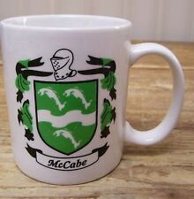 McCabe Name Crest Coat of Arms Coffee Mug Cup