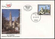 Austria 1991 Friedrich Von Schmidt FDC First Day Cover #C14856