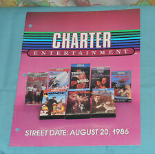 vintage Charter Entertainment video store ADVERTISING BROCHURE The Dirt Bike Kid