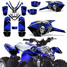 Decal Graphics Kit For Polaris Outlaw 50 ATV Quad Graphics Wrap Deco REAP BLUE