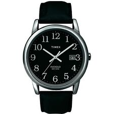 Timex Easy Reader mens indiglo classic black dial watch T2N370