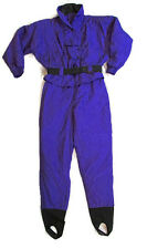 Vintage OSSI One Piece Ski Snowboard Belted Suit Purple Womans 12