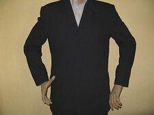 Homme bleu marine adams texturé à boutonnage simple fashion costume 40R tour de poitrine 34R taille 32 jambe