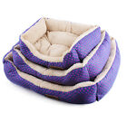 Super Soft Fabric Washable Dog Pet Warm Basket Bed Fleece Lining Free Pillow XY