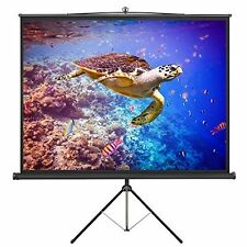 VonHaus 84in Tripod Projector Screen TV/Video/Power Point Presentation Platform