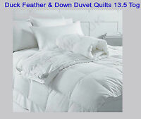Duck Feather & Down Duvet Quilts 13.5 Tog Single Double King & Super King Size