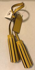 NWT COACH Legacy Leather Tassels with Hangtag 21848 in SV/SF Sunflower