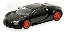 MINICHAMPS 100 110842 BUGATTI VEYRON SUPER SPORT model car black metallic 1:18th