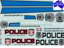 1:10 RC Decals- POLICE may suit Tamiya,Hot Bodies,Protoform HPI Sakura