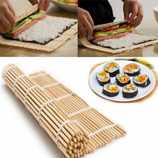 DIY SUSHI ROLL MAKER BAMBOO ROLLING ROLLER MAT PREPARATION EQUIPMENT24*24cm