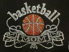 "HOTFIX RHINESTONES HEAT TRANSFER IRON  ""Basketball Mom Bling Bling"""
