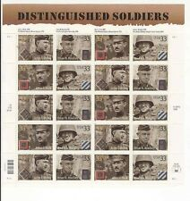 US 3393-96, 3396a Distinguished Soldiers sheet of 20 MNH POF