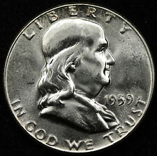 1959-p Franklin Half.  Error.  Type 2 Reverse (Proof Die).  B.U.