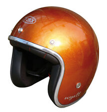 Casque casco helmet jet TORX WYATT orange Taille XS 53 54 CAFE RACER