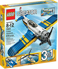 LEGO 31011 Creator Aviation Adventures Plane, Helicopter, Speedboat - Brand New
