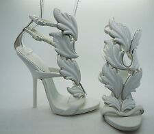 GIUSEPPE ZANOTTI Kanye West White Cruel Summer Suede Heels Shoes Sz 37 US 7 NEW