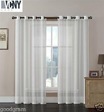 2 Pack: Brandi Ultra High-End Matte Sheer Grommet Curtains by VCNY® - (Ivory)