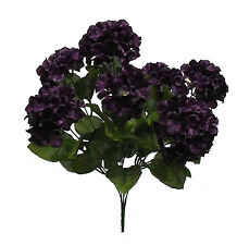 "21"" HYDRANGEA BUSH ~ PURPLE ~ Silk Wedding Flowers Bridal Bouquets Centerpieces"