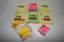 Lot of Post It Notes Assorted Cubes Stars Super Sticky Lines