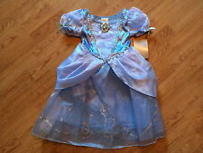 NEW Disney Store CINDERELLA Girls DRESS M 7/8 Princess HALLOWEEN COSTUME