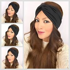 Turban headband In Black Head Wrap Black Women's Headband Hair Band Twisted Band