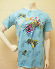 Christian Audigier Bee & Rose Lt Teal T-Shirt (L) NEW