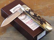 SCHATT & MORGAN  KEYSTONE #376 SWELL CENTER JACK KNIFE, GENUINE STAG, 1 of 30