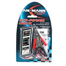 ANSMANN Tester de batería de coche vehículo automóvil -