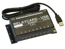 8 CHANNEL COMPUTER RELAY CARD, AUTOMATION CONTROL WITH FREE SOFTWARE - (M162)