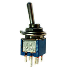 Sub Min. DPDT C/Off Toggle Switch ON/OFF/ON  Package of 2 SM203