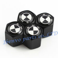 Black Styling Car Metal Wheel Tyre Tire Stem Air Valve Cap For BMW Motors B&W