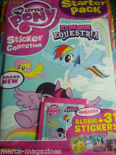 PANINI MY LITTLE PONY EXPLORE EQUESTRIA STICKER ALBUM BOOK & 31 STICKERS UNUSED
