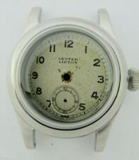 Vintage 30.44mm ROLEX Oyster Lipton SS Wristwatch CASE / DIAL / CROWN for PARTS