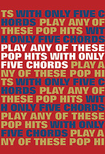 GUITAR - POP HITS With Only 5 Chords Chord Book Chart Rock Easy Sheet Music Book