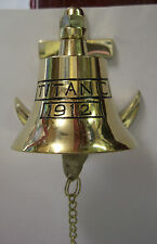 IRISH BRASS ANCHOR BELL TITANIC 1912 - SMALL WITH CHAIN