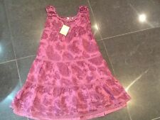 NWT Juicy Couture New & Genuine Girls Age 8 Purple Paisley Tiered Cotton Dress