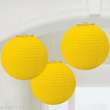 LARGE YELLOW PAPER LANTERNS (3) ~ Baby Bridal Shower Birthday Party Supplies