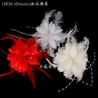Hair Flower Clip Wedding Fascinator Bridal Accessories Ladies Corsage Jewelry